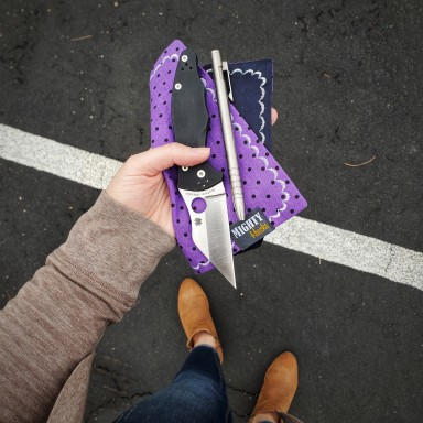 Purple Speckles Mighty Mini with Microfiber