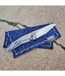 Navy Scroll Mighty Mini with Microfiber