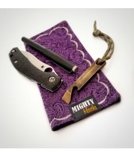 Purple Paisley Mighty Mini with Microfiber